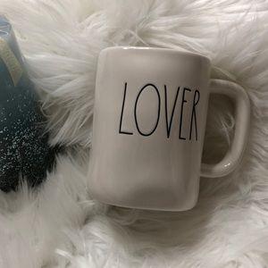 "Rae Dunn ""LOVER"" coffee mug NEW"